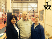 Senator Fidelma Healy Eames and Galway City East Independent Candidate Noel Larkin at Renmore Gymnastics Club